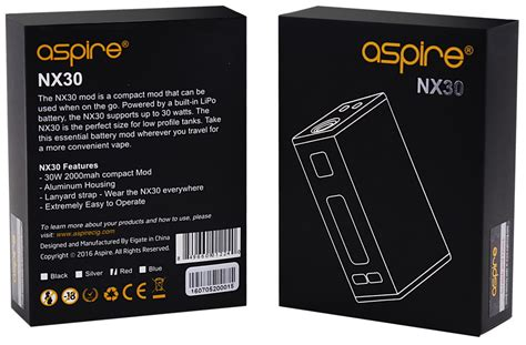 Transparent Battery For 18350 aspire nx30 30w box mod aspire box mods aspire uk net