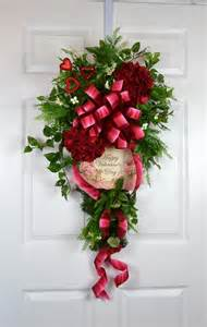 Fall Decorations For Outside The Home Valentine Door Swag Wreath Gaslight Floral Design