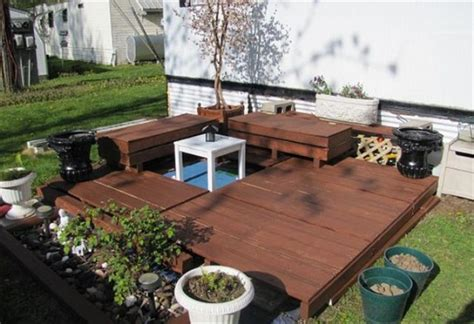 pallet patio deck unique use of pallet pallet