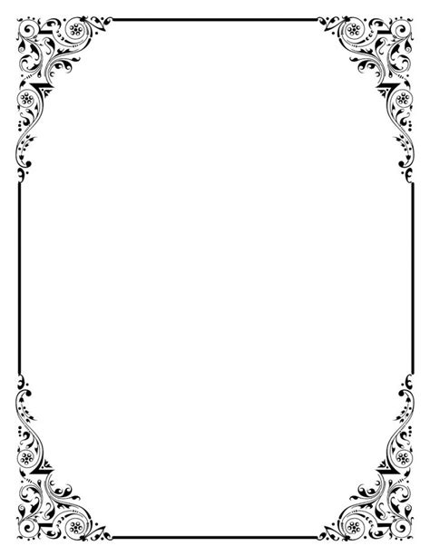 Paper Template With Border Border Writing Paper Template With Borders
