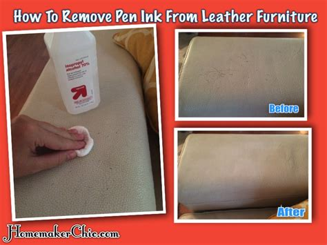 How To Remove Pen Stains From by How To Remove Pen Ink From Leather Furniture Homemaker Chic