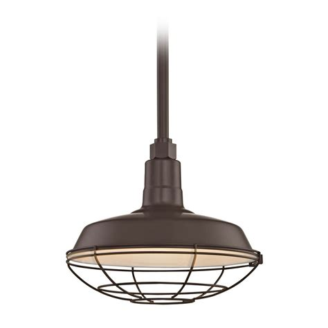 barn light with cage barn light pendant bronze with 12 inch cage shade bl stm