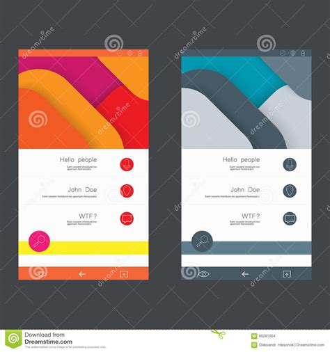 set of user interface templates to date design stock