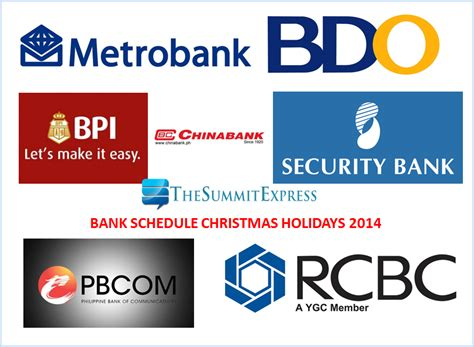 new year bank philippines banking hours schedule holidays 2014 new year
