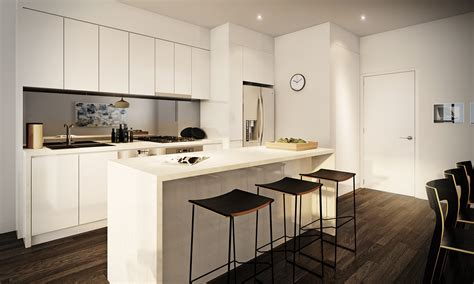 how to create a modern style studio apartment kitchen with