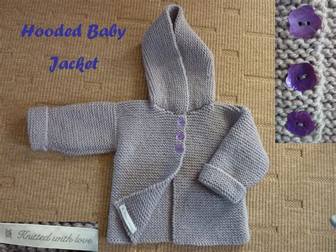 baby knitted hooded jacket free patterns knitting pattern hooded sweater sweater