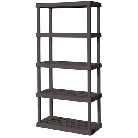 sterilite 5 shelf tubular shelving unit in gray silk