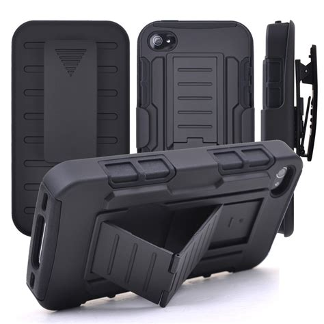 Black Armor Iphone 7 Clip Holster Hybrid Stand for iphone 6s belt clip holster stand armor cover for iphone 6s plus 6 plus 5s se 5c 7