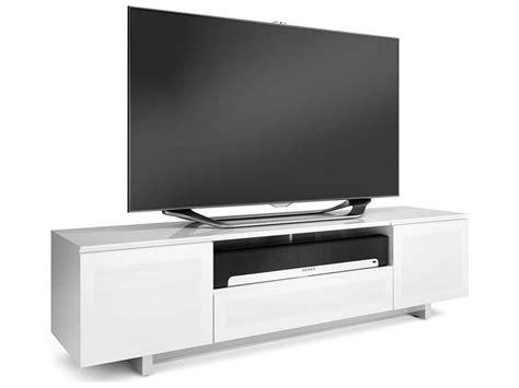 slim tv bench bdi nora slim 77 x 22 gloss white quad wide enclosed