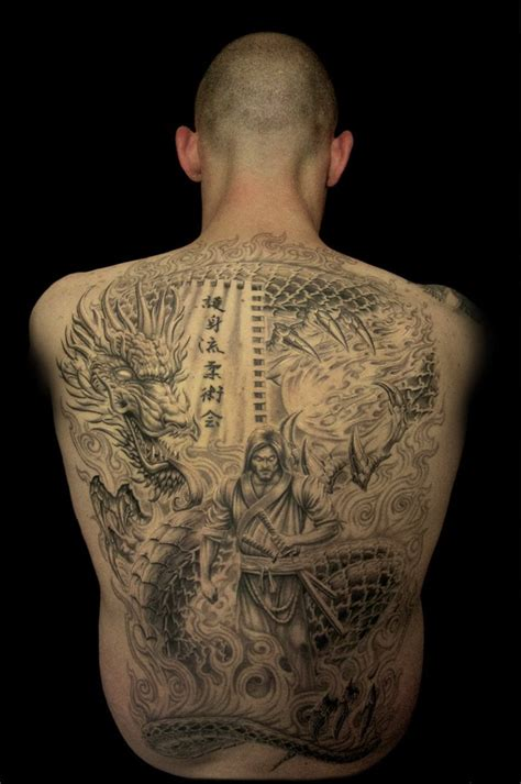full back dragon tattoo tattoos for men