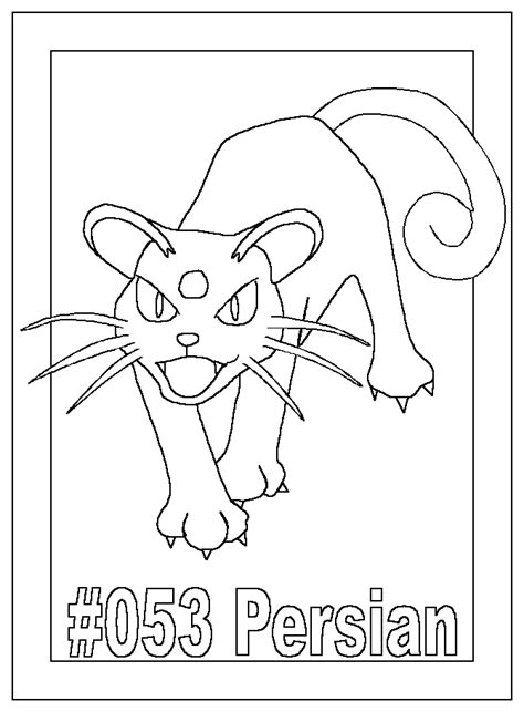 persian cats coloring pages