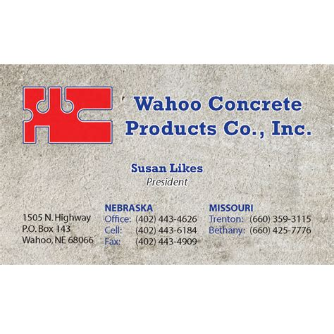concrete business cards wahoo concrete business card luke direct marketing