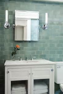 Sea Glass Tile Bathroom Contemporary With Accent Wall Aqua