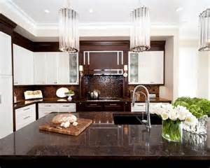 Brown And White Home Decor white cabinets metallic backsplash and mosaic tile backsplash