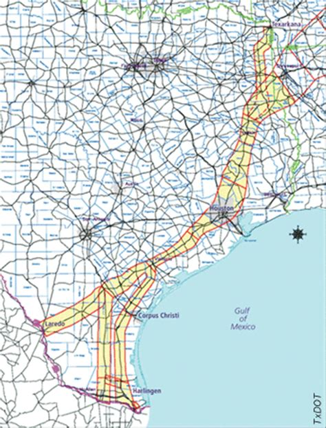 trans texas corridor map roads trans texas corridor july august 2005 fhwa hrt 05 006