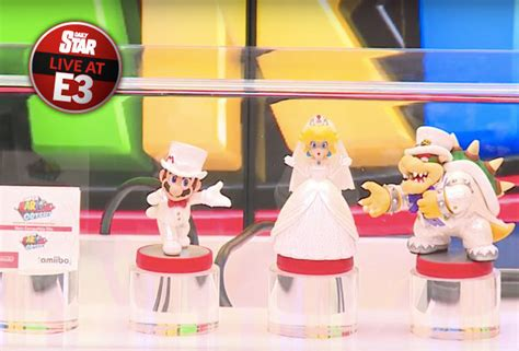 Amiibo Mario Wedding Mario Odyssey Series e3 2017 mario odyssey amiibo revealed following release date announcements daily