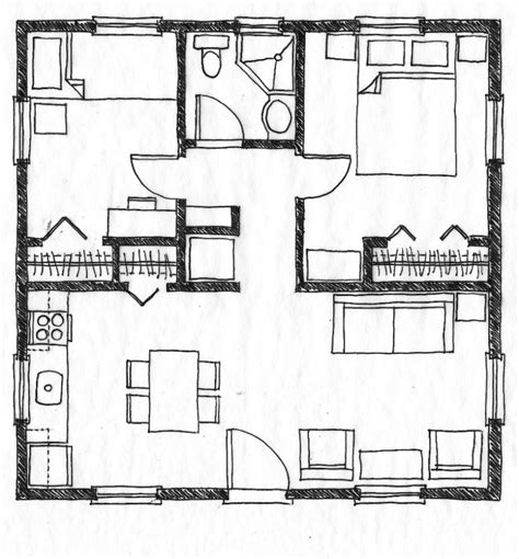 small home floor plans with pictures small residential building plan modern house inside