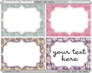 rectangle editable pdf 8x10 romantic damask labels by