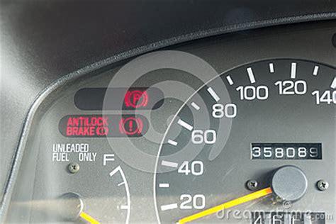 anti lock brake light car dashboard warning lights symbols stock illustration