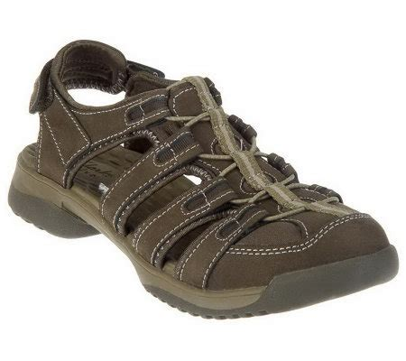 clarks sport sandals clarks leather adj fisherman sport sandals vapor mist