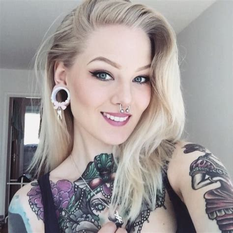sexy tattooed chicks 17 best images about nose ring on