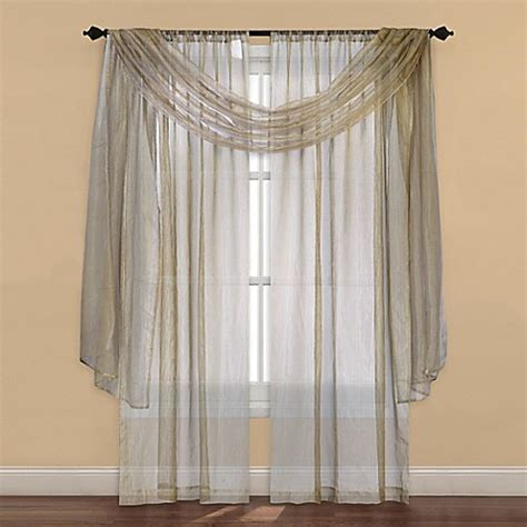 63 sheer curtains buy strive sheer 63 inch window curtain panel in gold from