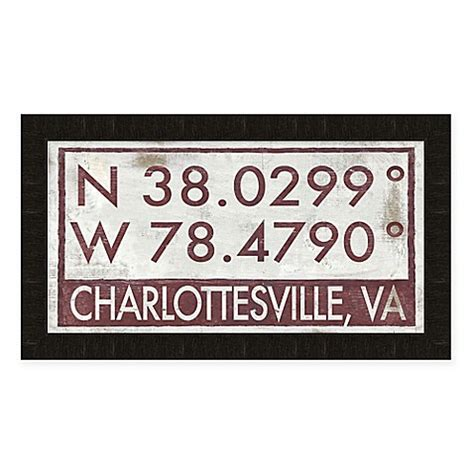 bed bath and beyond charlottesville charlottesville virginia coordinates framed wall art
