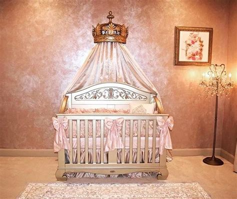 Princess Baby Nursery Decor Sophisticated Nursery For Your Pretty Princess This Princess Nursery Includes Our