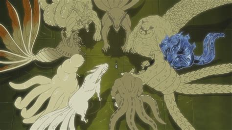 5 11 Beast Black Wolf hagoromo and all tailed beasts daily anime