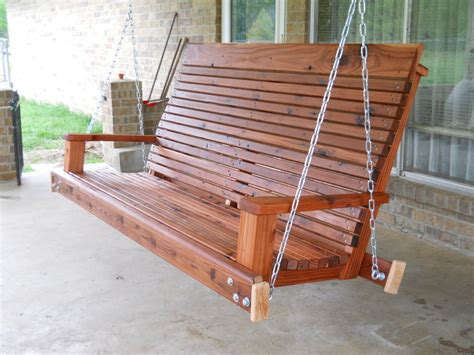 Redwood Porch Swing From Reclaimed Decking By Devann