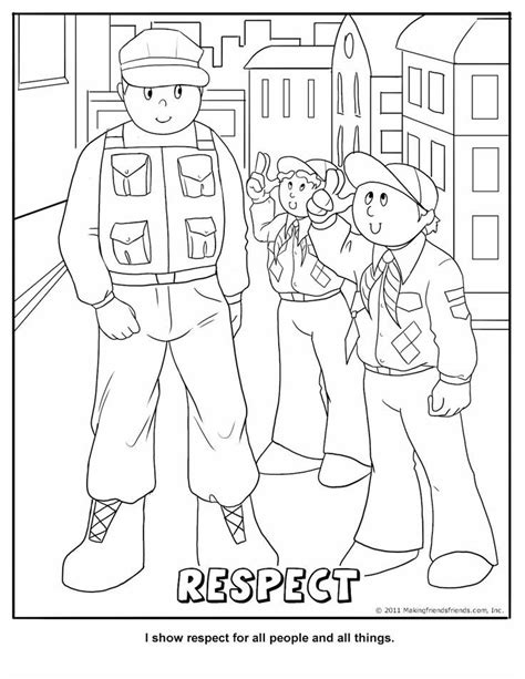 tiger cub scout coloring pages coloring home