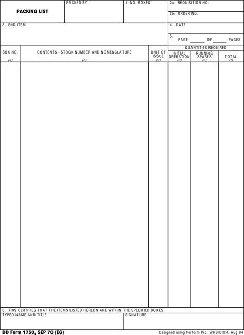 dd template dd form 1750 free premium templates forms