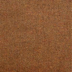 Harris Tweed Upholstery Fabric Herringbone Fabric Burnt Umber Herringboneburntumber