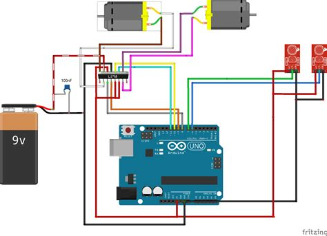 line follower robot using arduino uno circuit diagram