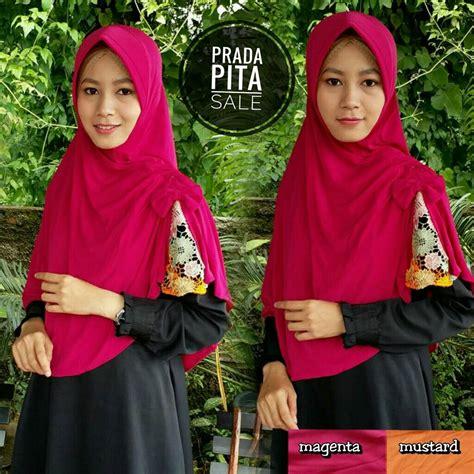 Dwina Pita Bahan Jersey Real Pic Ya sale stock prada pita sentral grosir jilbab kerudung i supplier jilbab i retail grosir