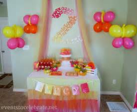 Birthday Decoration Ideas At Home With Balloons Butterfly Themed Birthday Food Desserts Events