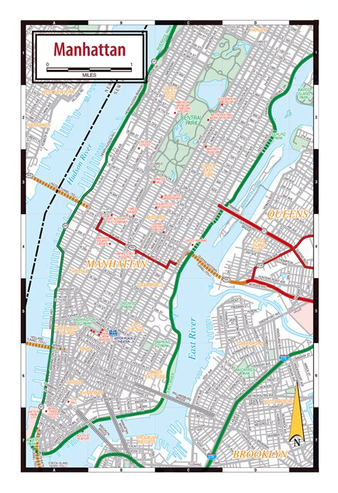 america new york map new york manhattan streets map new york usa united