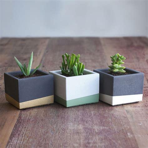 Ideas Design For Cement Planters Concept 20 Creative Handmade Planter Designs Color Blocking Concrete And Planters