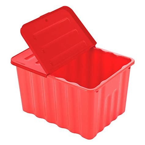 box  lid red  blue