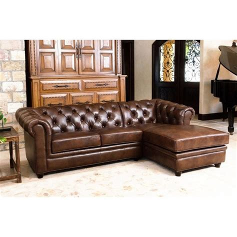 abbyson leather sectional abbyson living hamilton 2 piece leather sectional in