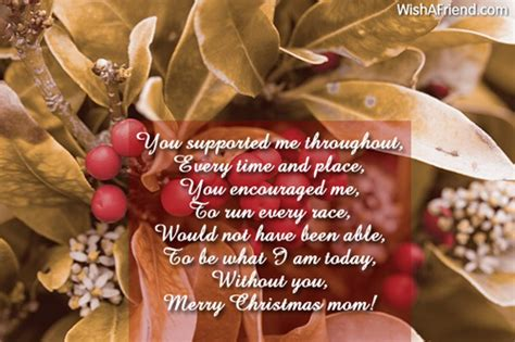 supported    time christmas messages  mom