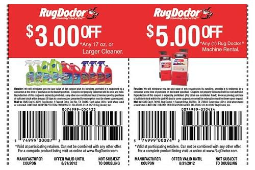 rug doctor coupons november 2018