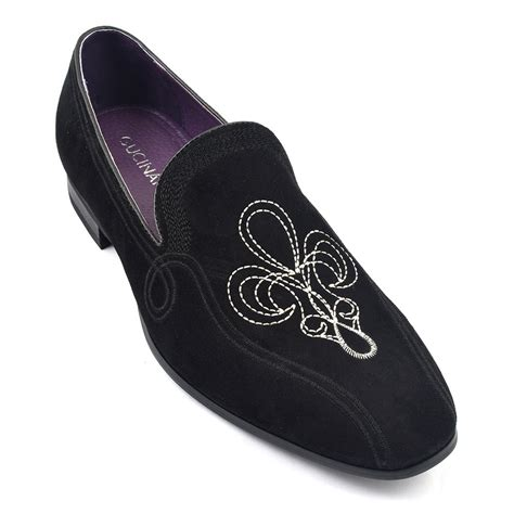 funky slippers shop mens black suede loafer slipper gucinari