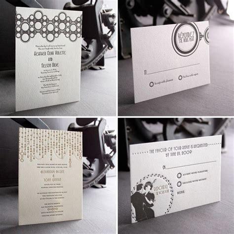 deco wedding invitation deco letterpress wedding invitations invitation crush