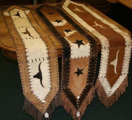 cowhide crosses rustic home decor country home decor cowhide table runner rustic home decor pinterest