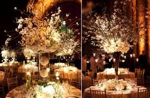 centerpieces for wedding reception white wedding reception centerpieces dramatic topiaries onewed