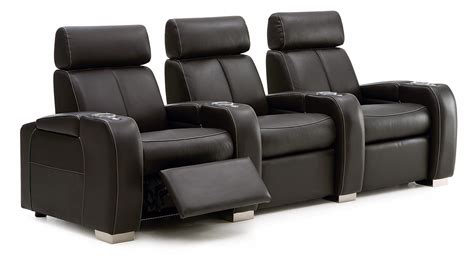 recliner sofa theater seating palliser lemans 40828 reclining home theater seating w cup