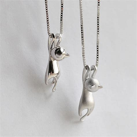 Lovely Necklaces by New Fashion Lovely Silver Plated Necklace Tiny Cat