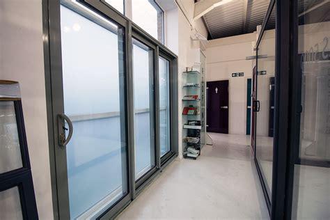 glass panel interior door showrooms aluminium doors glass nw uk