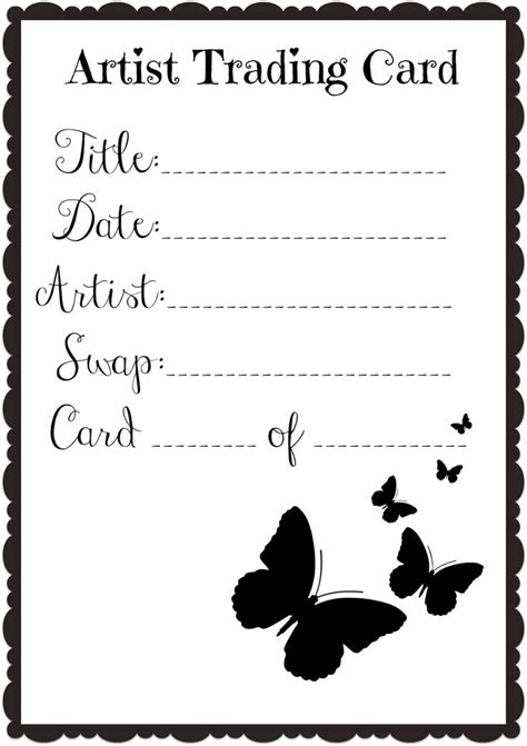 Artist Trading Cards Back Template by 9 Best Atc Back Designs Images On Artist